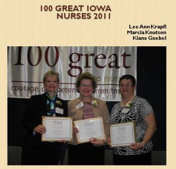 2011Iowa 100 Great Nurses